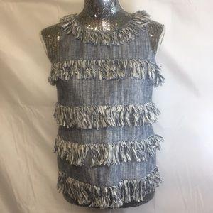 Julie brown nyc fringe shirt size 4